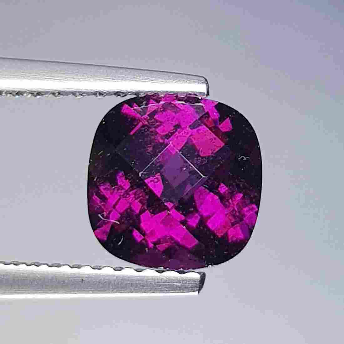 Natural Rhodolite Garnet Cushion Cut 2.15 ct