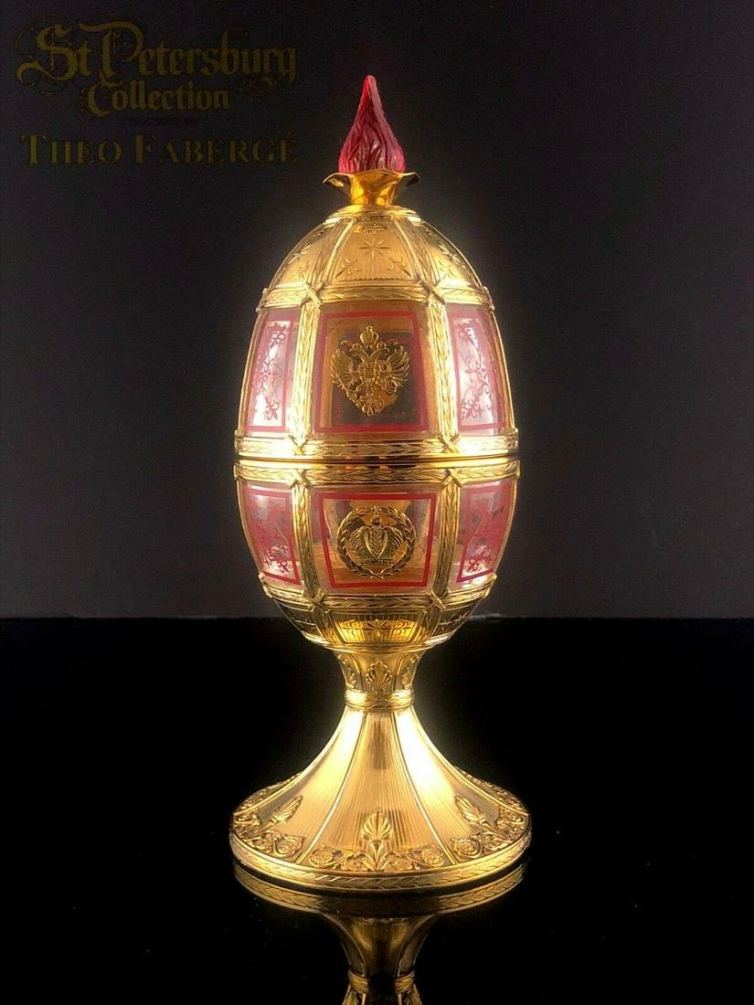Theo Faberge Limited Edition 24k Gilt/.925 Atlanta