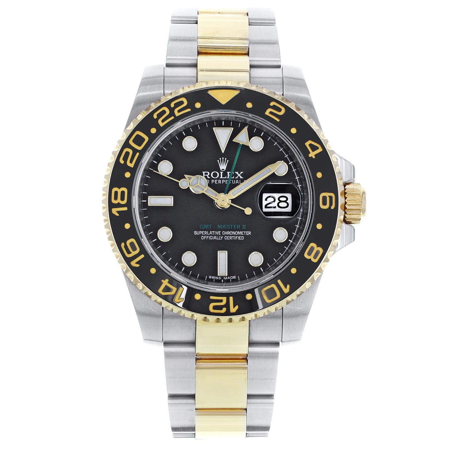 Rolex GMT-Master II 116713 Two Tone Black Black Steel