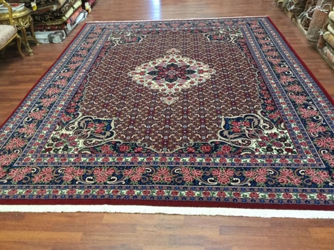 Unusual Vintage Persian Bijar rug