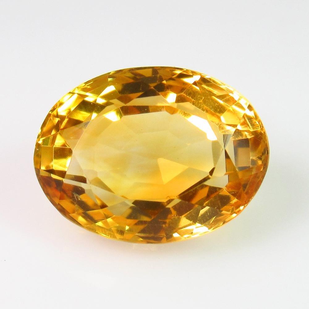 8.76 Ct Genuine Brandy Yellow Citrine Oval Cut