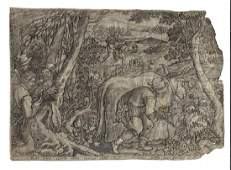 1600 Old Master Etching Hunting