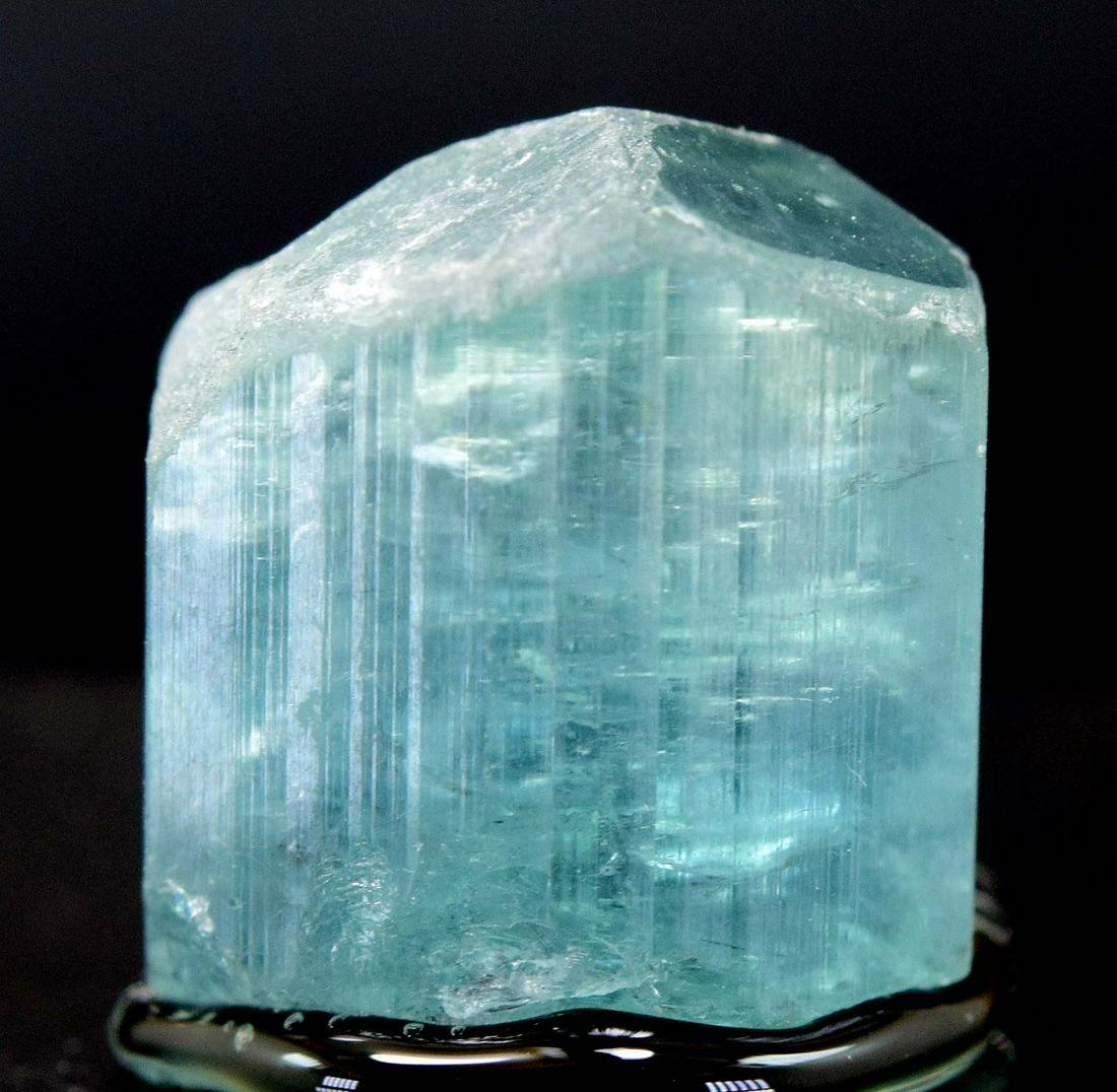 22.95 Carats Diamond Cut Terminated Sea-Foam Blue Color