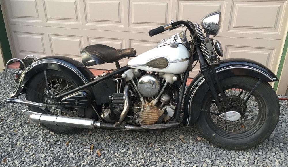 1941 FL Harley Davidson 74 CI Knucklehead