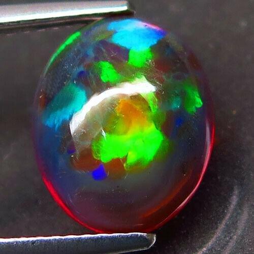 3,43 ct Natural Rainbow Black Opal