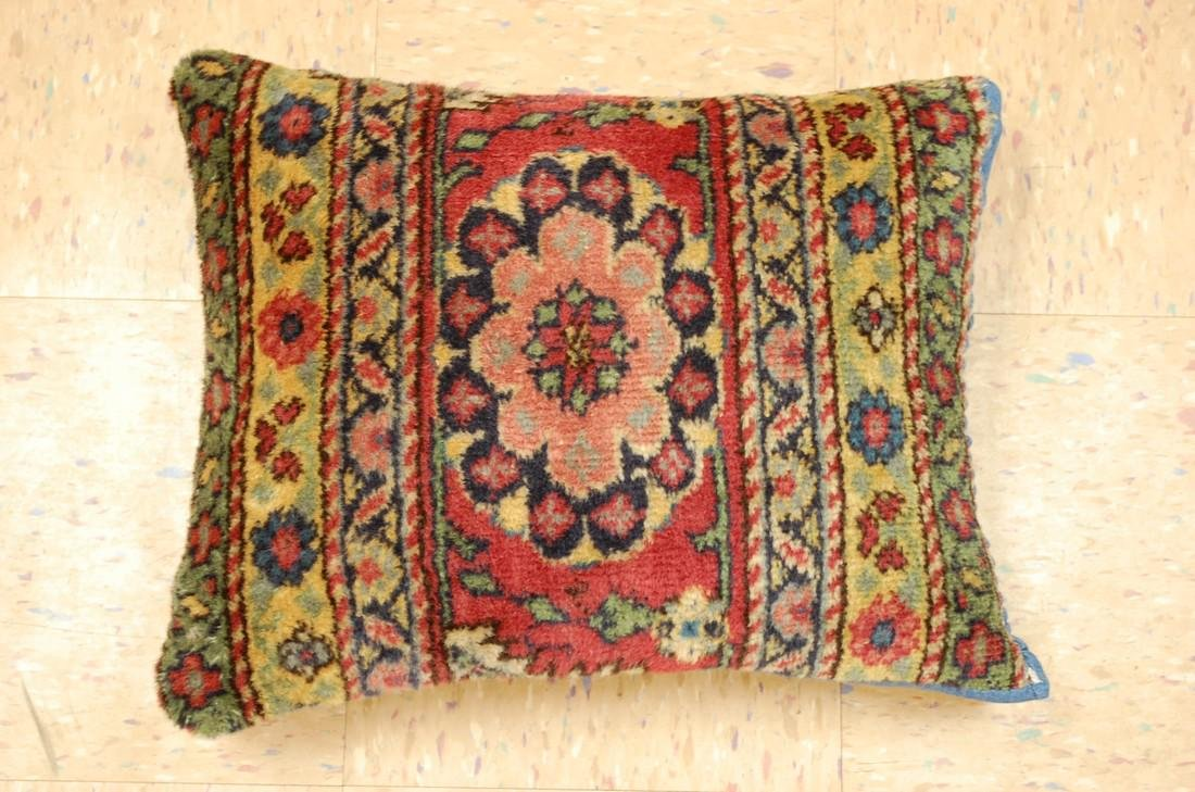 Antique Hand Made Of  Caucasian Pillow Cushion Rug