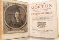 1727 VELLUM BOUND OPERA MEDICA by RICHARDI MORTON