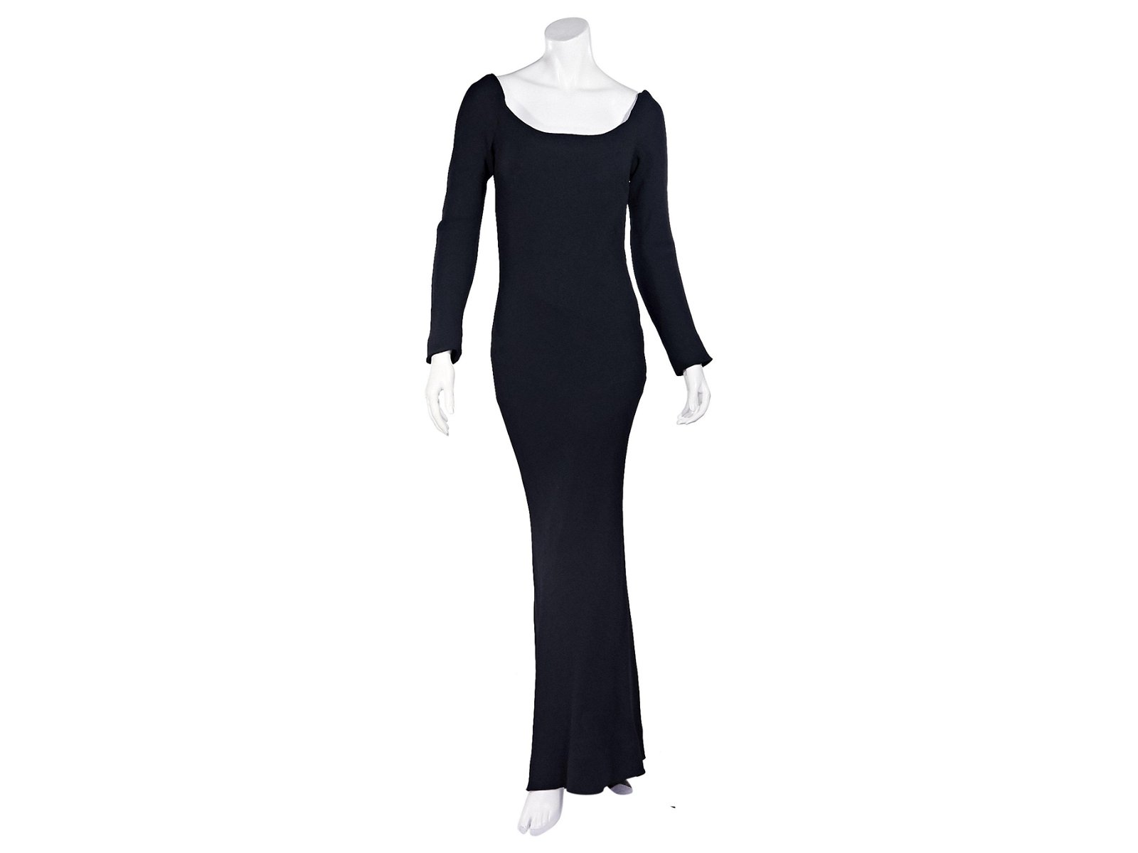 Navy Blue Vintage Givenchy Couture Gown