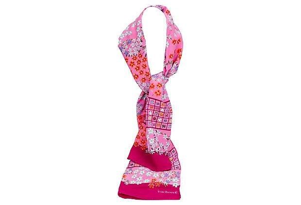 Cacharel Pink Silk Twill Scarf