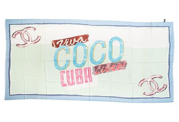 Chanel Viva Coco Cuba Cashmere Shawl