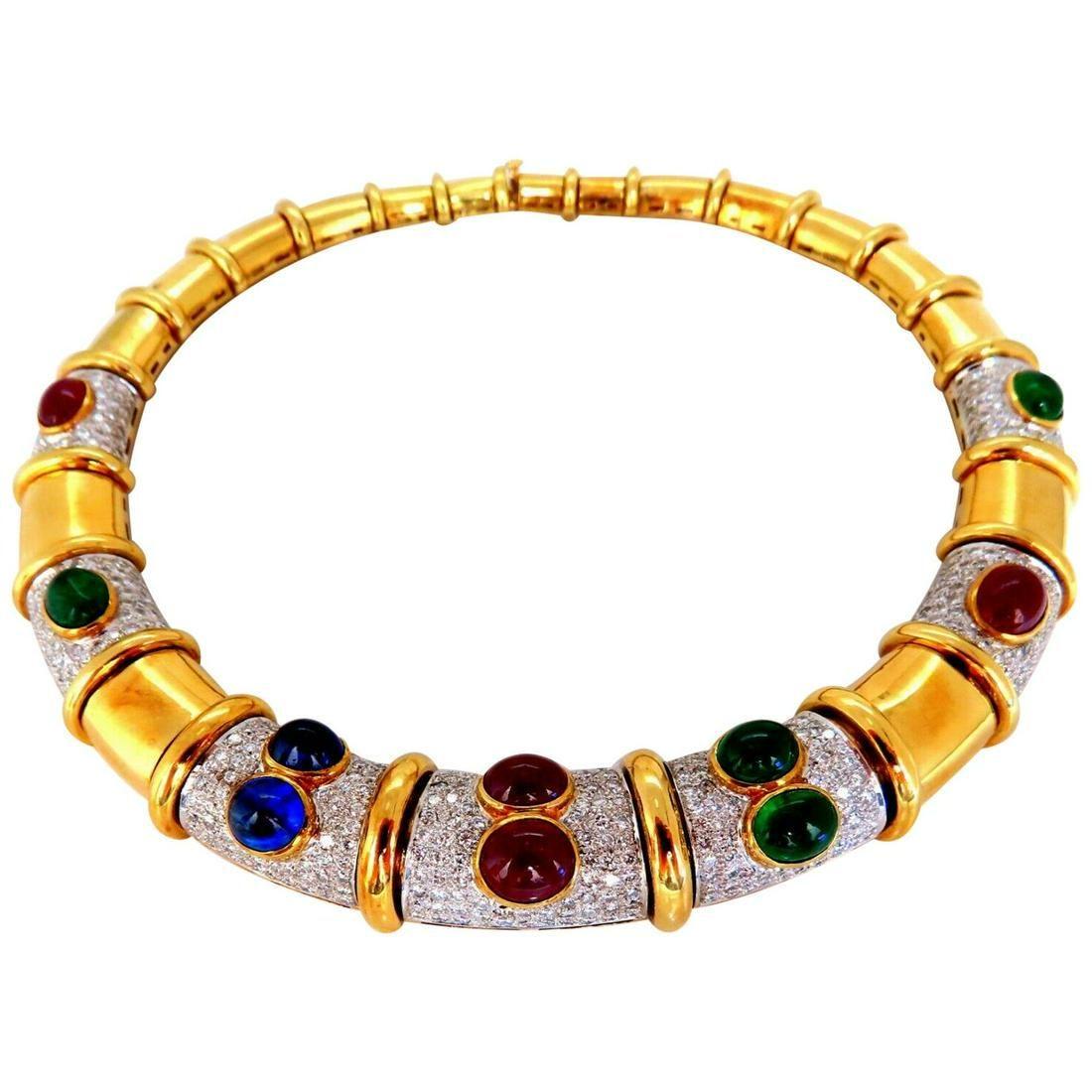48 Carat Natural Emeralds Ruby Sapphire Diamonds