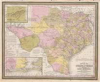 Scarce Cowperthwait, Desilver, Butler map of Texas