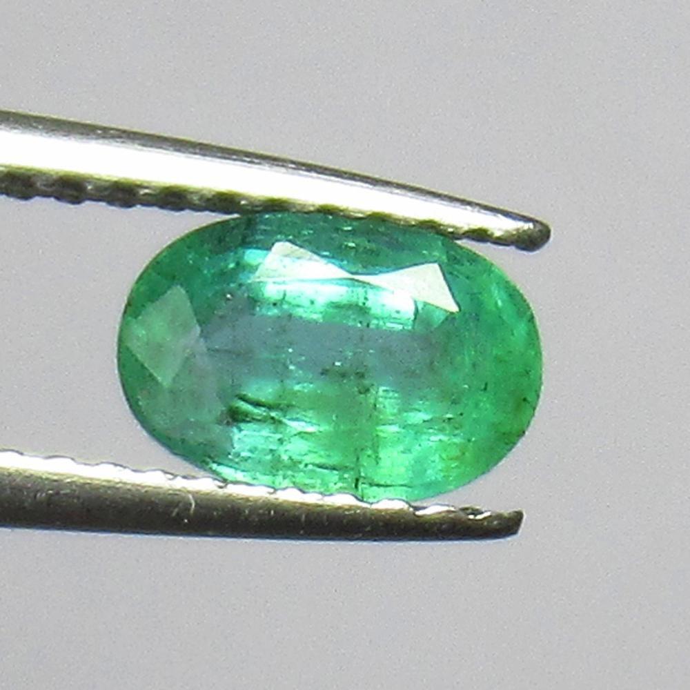 0.75 Ct Genuine Zambian Emerald Oval Cut