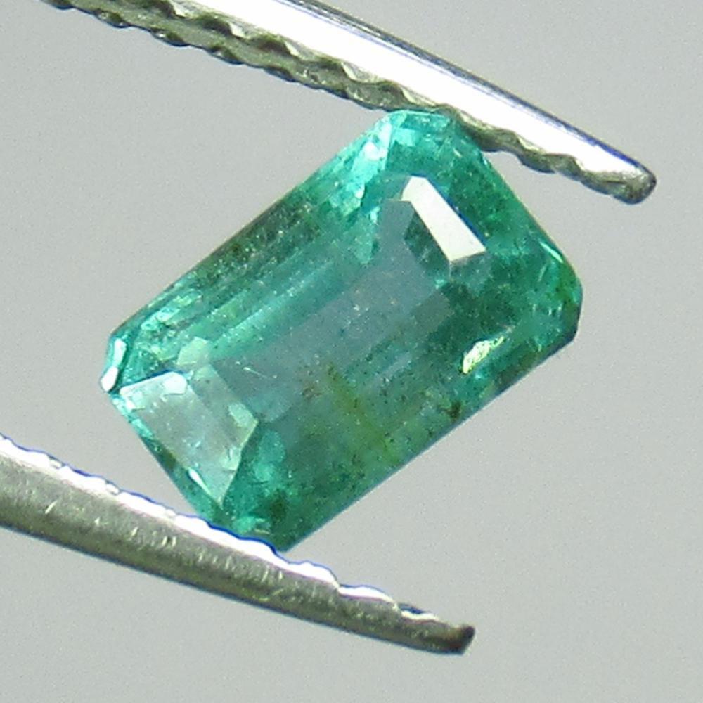 0.75 Ct Genuine Zambian Emerald 6X4 mm Octagon Cut