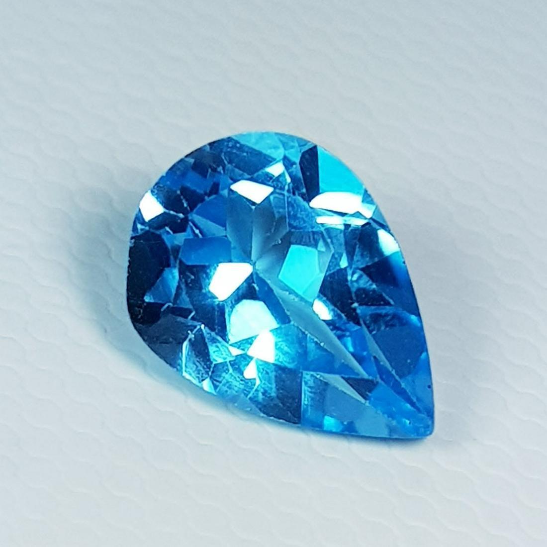 Natural Blue Topaz Pear Cut 2.20 ct