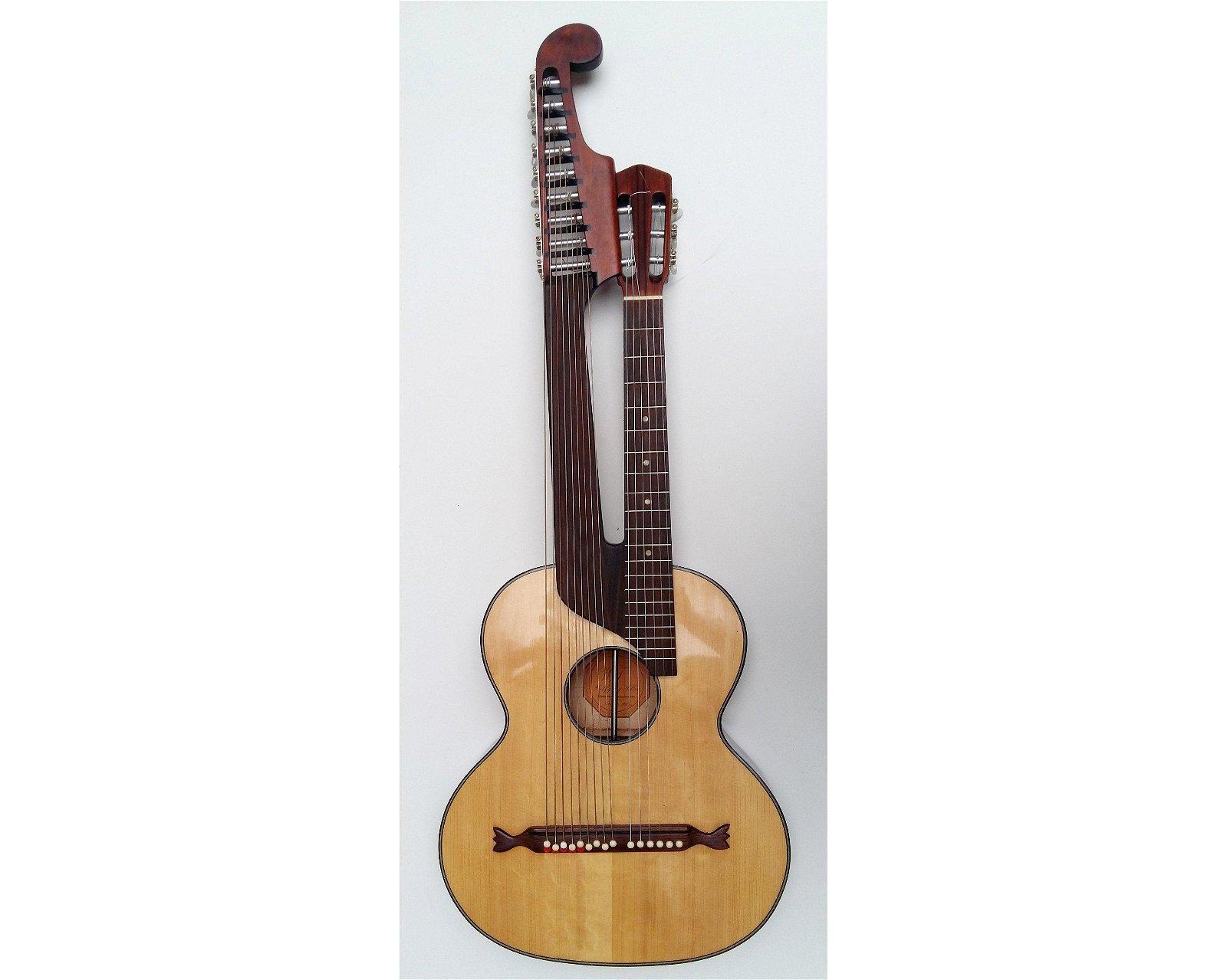 WOLFGANG TELLER Harp-guitar B15 - 15 strings, Germany