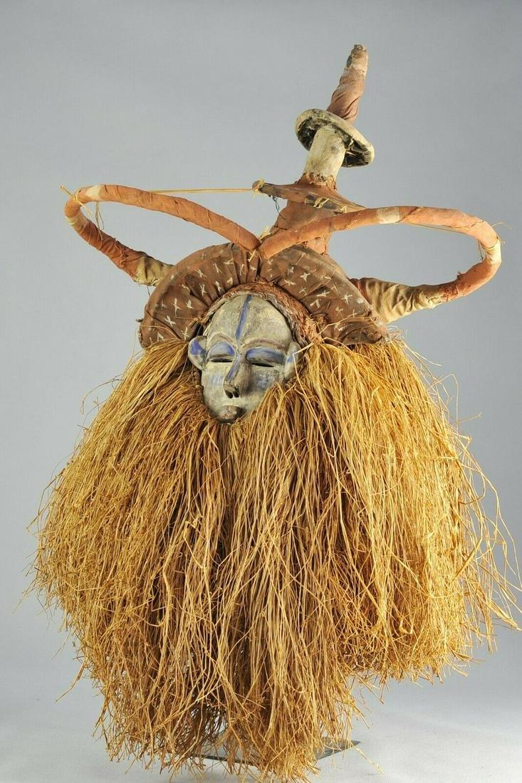 YAKA initiation Mask Congo Rdc Bayaka Provenance