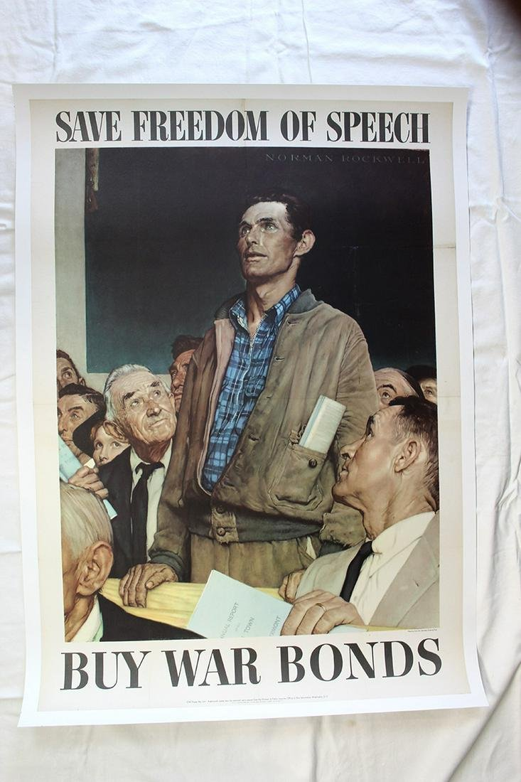 Save Freedom Of Speech by Norman Rockwell (USA, 1943)