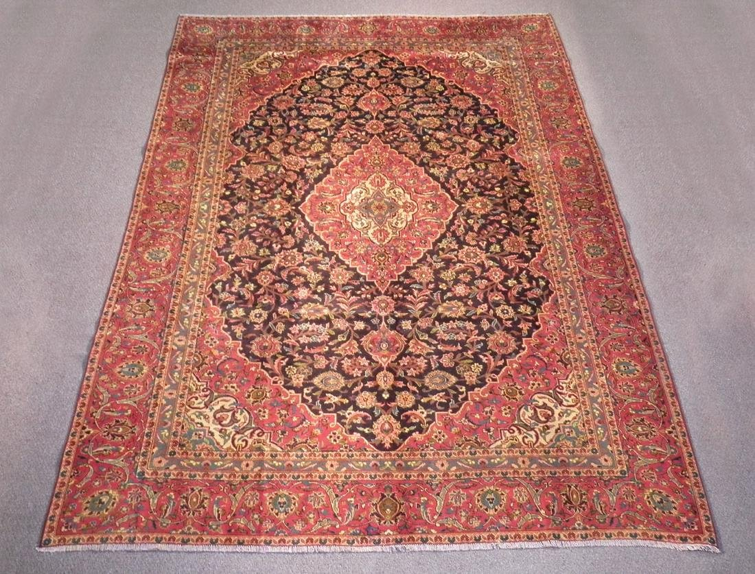 Vintage Persian Kashan 7.7x10.8