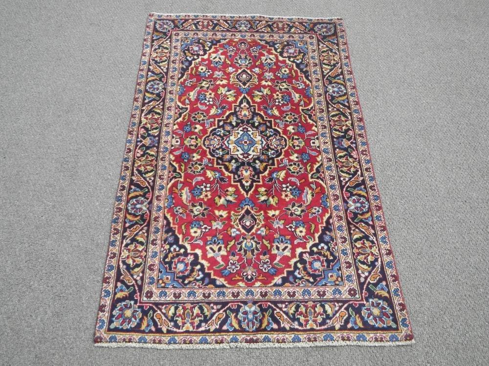 Vintage Persian Kashan 2.11x4.11