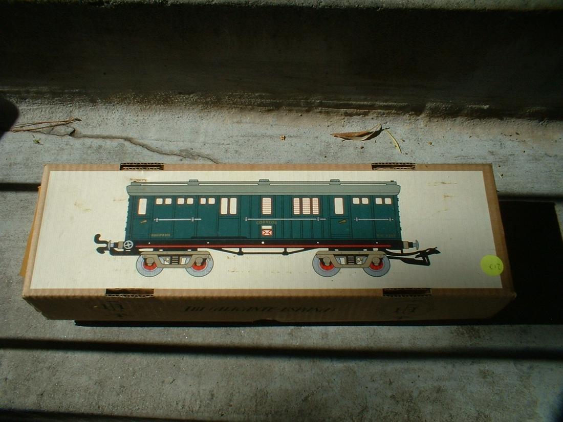 O-scale tinplate post car by Paya - Alicante (Spain),