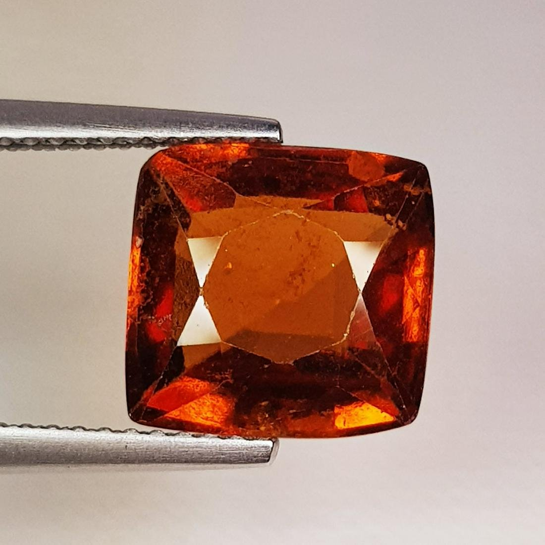 Natural Hessonite Garnet Cushion Cut 4.96 ct