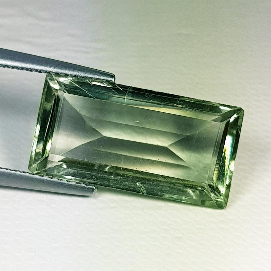 Natural Green Amethyst Emerald Cut 8.36 ct