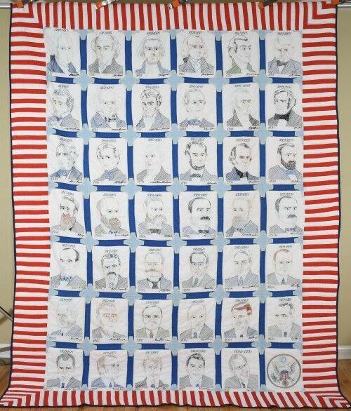 Vintage American Presidents Quilt
