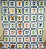 30s Butterfly Hand Pieced Antique Quilt Top