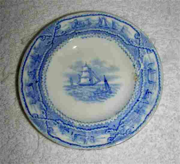 Blue American Marine Cup Plate