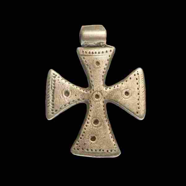 Medieval-Crusaders Solid Silver Cross, 11th-12th