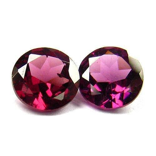 1.28 ct purplish pink rhodolite garnet