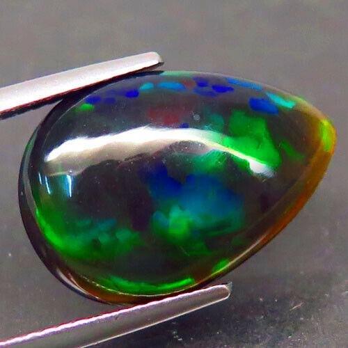 5,10 ct Natural Rainbow Black Opal
