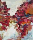 PARKER LEE Mid Century Modernist Expressionist large