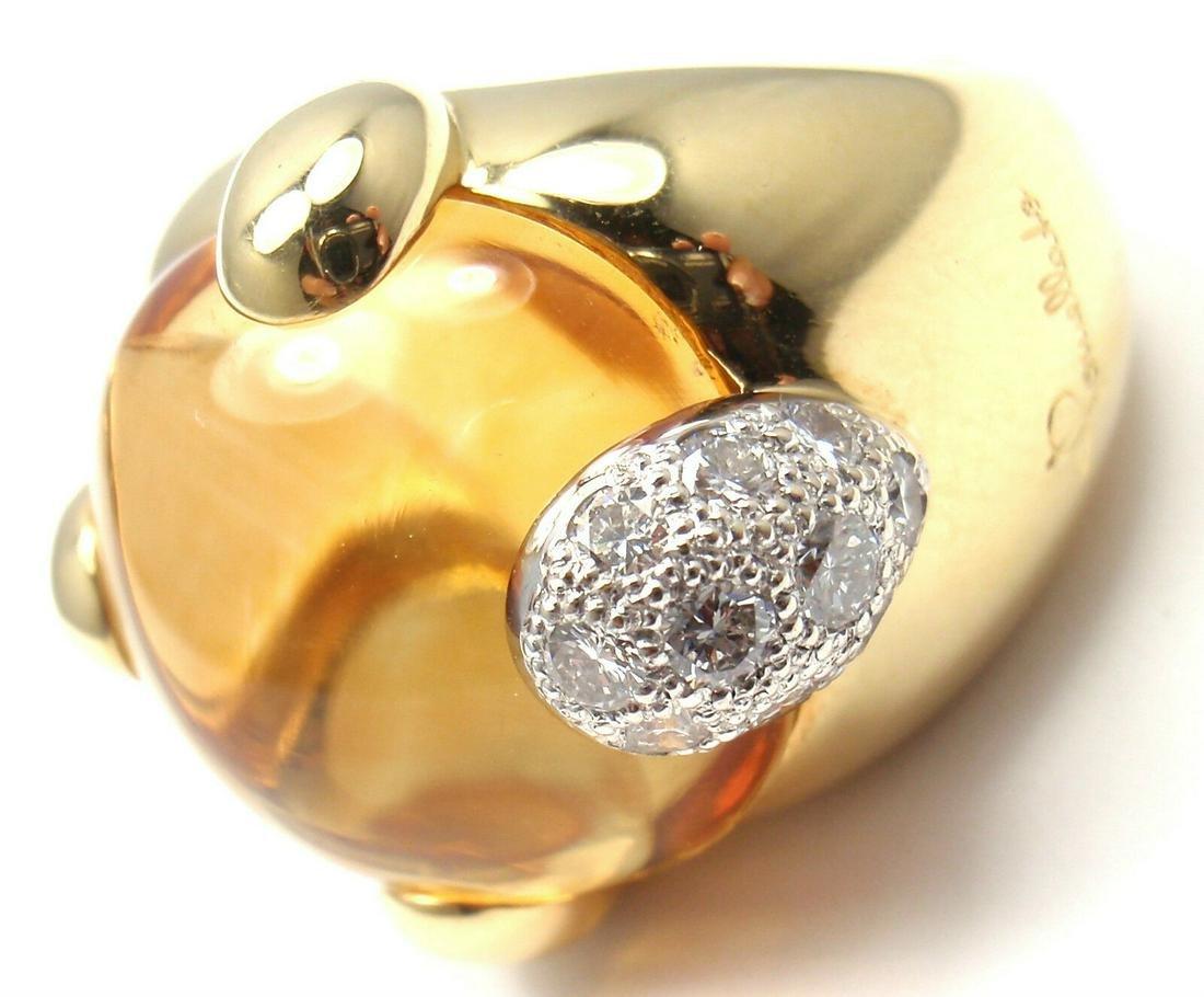 Authentic! POMELLATO Griffe 18k Yellow Gold Diamond