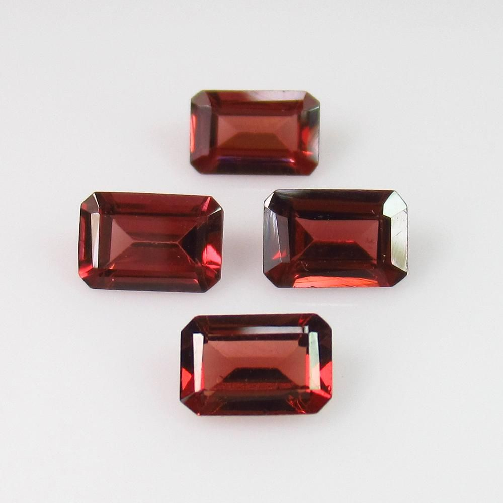 243 Ctw Natural 4 Pink Rhodolite Garnet Octagon Set