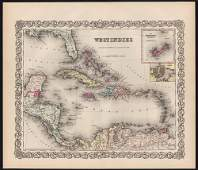 West Indies - 1856 Colton Atlas of the World