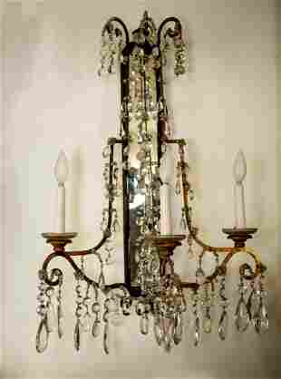 Pair of Important FRENCH Sconces in Bronze with
