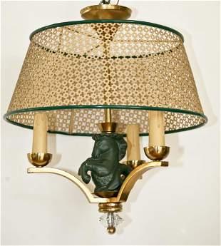 French mid century Asselbur George Jouve chandelier