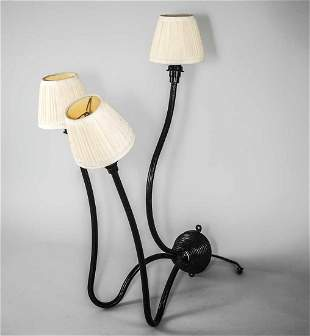 FRENCH modernist pair of Metal Sconces ROYERE GUARICHE