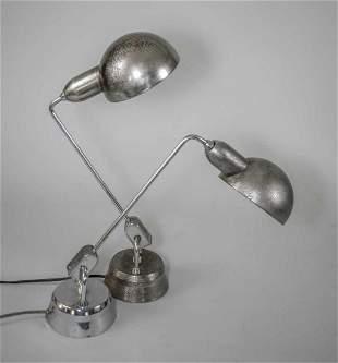 PAIR of FRENCH MODERNIST JUMO DESK LAMP CHARLOTTE