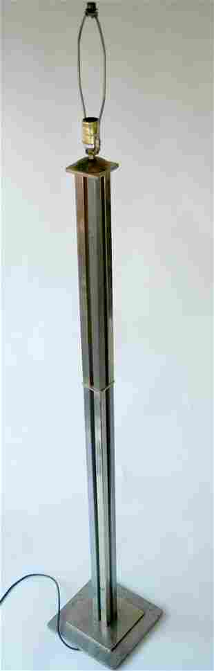 FRENCH ART DECO modernist FLOOR LAMP ADNET manner