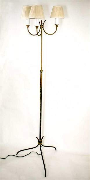 Royere manner wrought iron metal brass French modernist