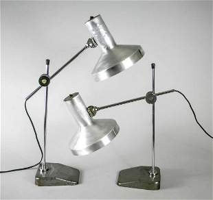 PAIR of FRENCH MODERNIST DESK LAMP JUMO PERRIAND ADNET