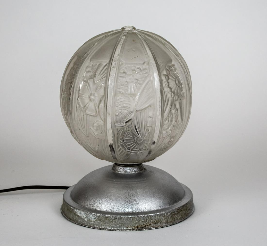 FRENCH ART DECO NIGHTLIGHT Desk lamp MOLDED pressed