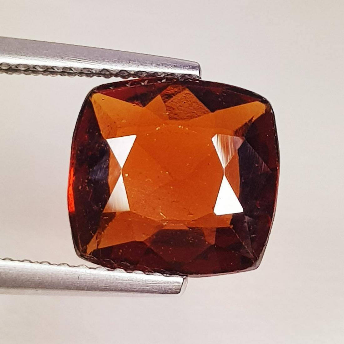 Natural Hessonite Garnet Cushion Cut 4.10 ct