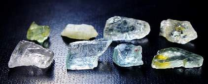 Natural & Unheated ~ Green Color Sapphire Rough Lot