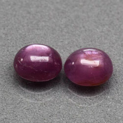 2 pcs oval cab untreated red ruby Guinea