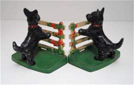 Scottie Scottish Terrier Cast Iron Hubley Bookends