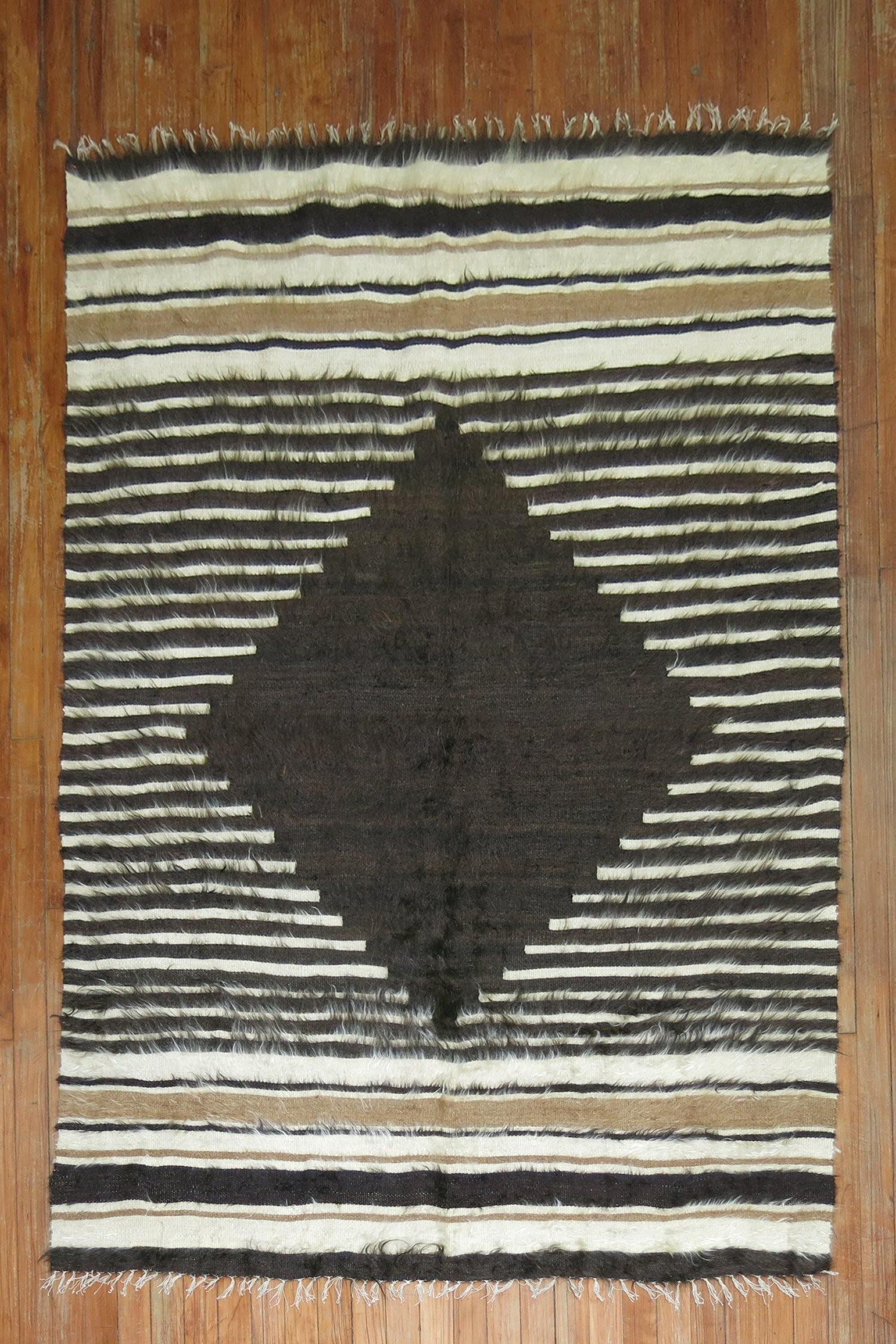 Geometric Mohair Rug